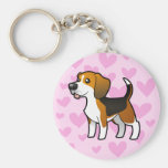 Beagle Love Key Chains