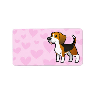 Beagle Love Label