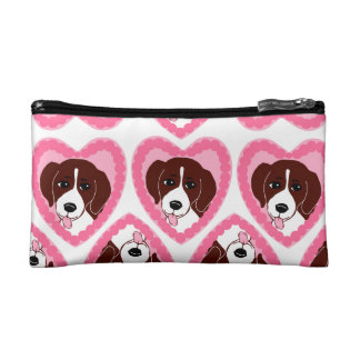 Beagle Love Pattern Cosmetic Bag