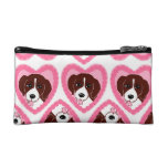 Beagle Love Pattern Cosmetic Bag Cosmetic Bags
