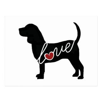 Beagle Love Postcard
