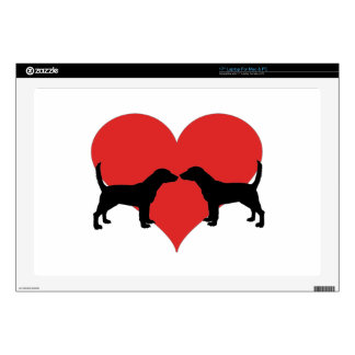 "beagle love skin for 17"" laptop"