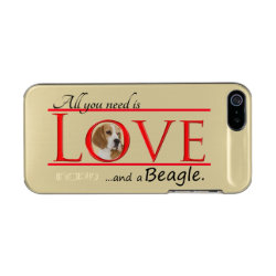 Incipio Feather Shine iPhone 5/5s Case with Beagle Phone Cases design