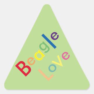 Beagle Love Triangle Sticker