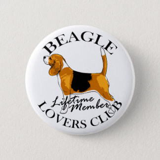 Beagle Lovers Club Button