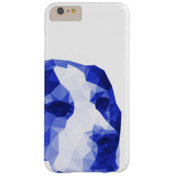 Beagle Low Poly Art in Blue Barely There iPhone 6 Plus Case