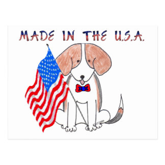 Beagle Made In The USA Postcard