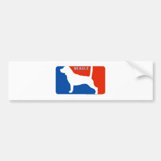 Beagle Major League Dog Bumper Sticker Car Bumper Sticker