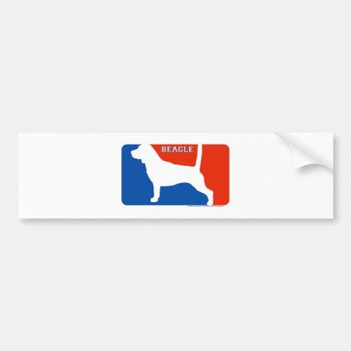 Beagle Major League Dog Bumper Sticker