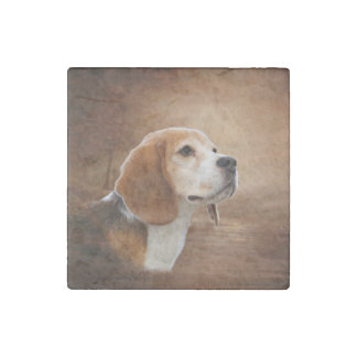 Beagle Marble Stone Magnets, Individual Stone Magnet