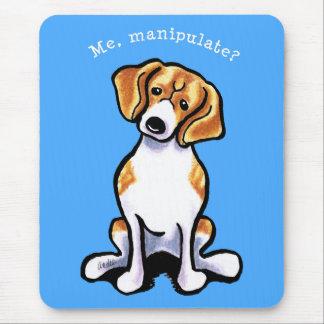 Beagle Me Manipulate Off-Leash Art™ Mouse Pad