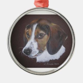 Beagle Metal Ornament