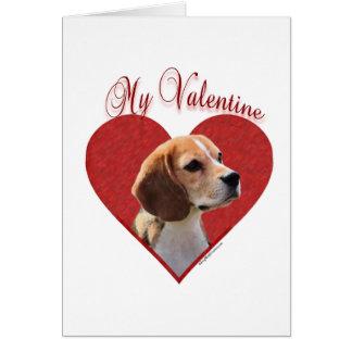 Beagle mi tarjeta del día de San Valentín
