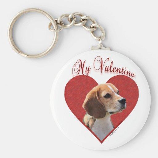 Beagle mi tarjeta del día de San Valentín - Llavero Redondo Tipo Pin