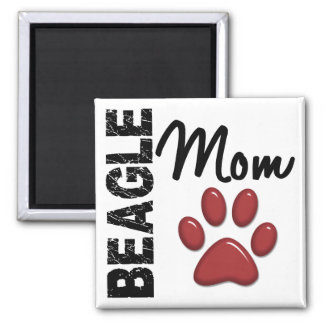 Beagle Mom 2 2 Inch Square Magnet