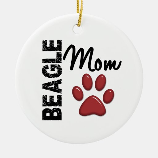 Beagle Mom 2 Ornament