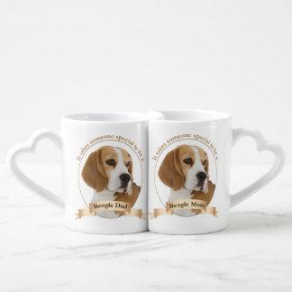 Beagle Mom and Dad Mugs