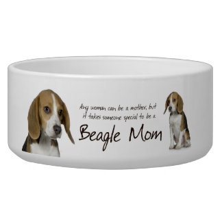 Beagle Mom Bowl Dog Bowls