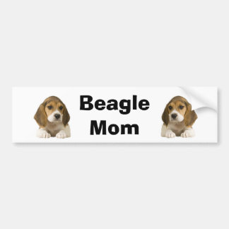 Beagle Mom Bumper Sticker Car Bumper Sticker