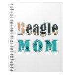 Beagle Mom Colors Spiral Note Books
