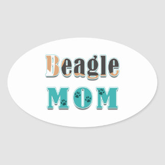 Beagle Mom Colors Sticker