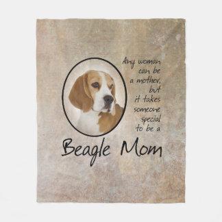 Beagle Mom Fleece Blanket