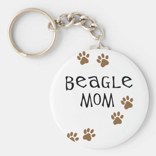 Beagle Mom Keychain