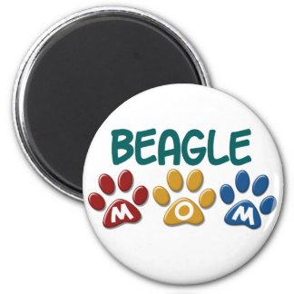 BEAGLE MOM Paw Print 2 Inch Round Magnet