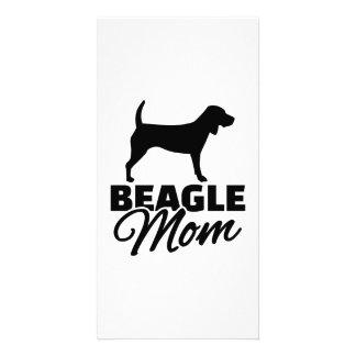 Beagle Mom Photo Card