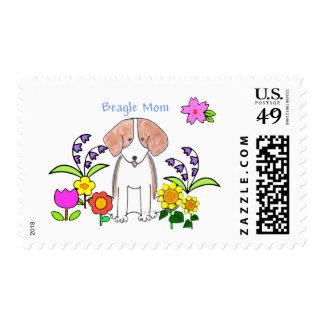 Beagle Mom Postage