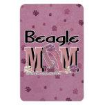 Beagle MOM Rectangular Magnet