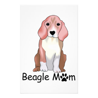 Beagle Mom Personalized Stationery