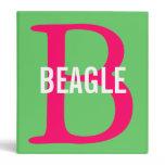 Beagle Monogram Binder