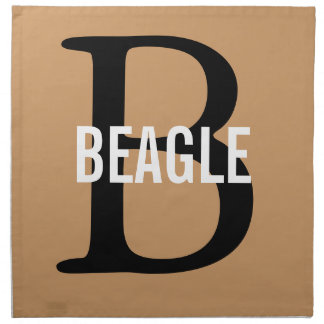 Beagle Monogram Cloth Napkin