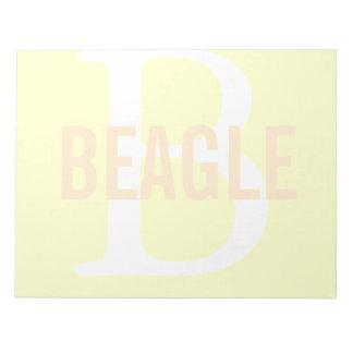 Beagle Monogram Notepad