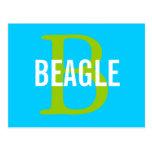 Beagle Monogram Postcard