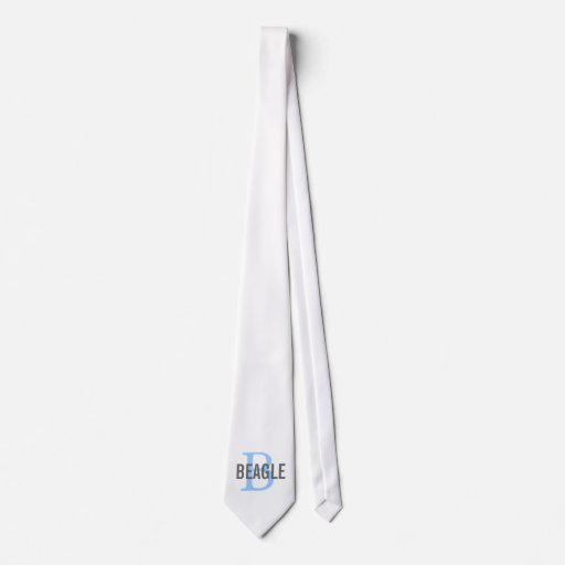 Beagle Monogram Tie