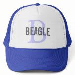 Beagle Monogram Trucker Hat