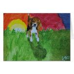 Beagle Notecards Tarjeta Pequeña