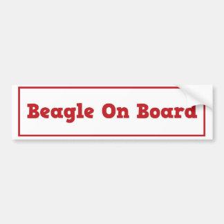 Beagle On Board Bumper Sticker Car Bumper Sticker