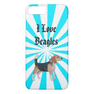 Beagle on Turquoise Pinwheel 7+ iPhone 8 Plus/7 Plus Case