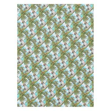 Beach Themed Beagle on Vacation Tropical Beach Tablecloth