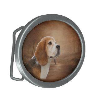 Beagle Oval Belt Buckle