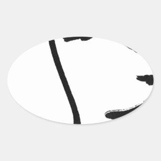 Beagle Oval Sticker