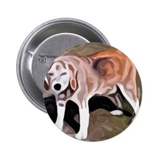 beagle painting buttons