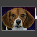 Beagle Painting - Dog Breed Art Card