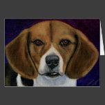Beagle Painting - Dog Breed Art Card