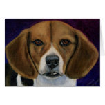 Beagle Painting - Dog Breed Art Greeting Card