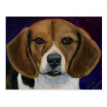 Beagle Painting - Dog Breed Art Postcard