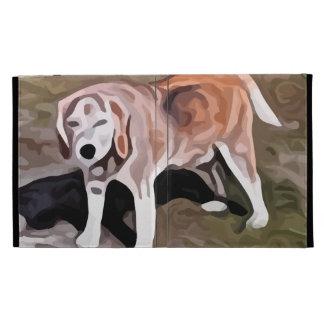 beagle painting iPad cases